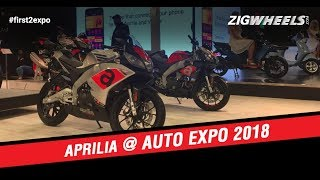 5. Aprilia Bike At Auto Expo 2018 | SR125, SR150, RS 150 & Tuono 150 | ZigWheels.com