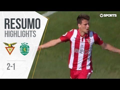 Highlights | Resumo: D. Aves 2-1 Sporting (Taça de Portugal 17/18 #Final) (видео)