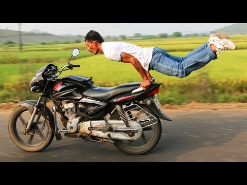 Man Perform Yoga On Speeding Bike