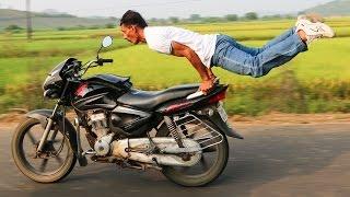 Motorbike Yoga: Man Pulls Yoga Poses On Speeding Bike