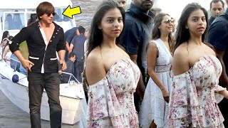 Video SRK's HOT Daughter Suhana Khan & Bollywood Celebs Returning From Alibaug After Birthday 2017 Party MP3, 3GP, MP4, WEBM, AVI, FLV Juli 2018