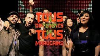 Nabila Maan avec Would Cha3b, Oum, Leila El Berrak, Barry, Mahmoud des Ganga Vibes, Adil et Othmane des H-Kayen et Ahmed Soltane  - Tous différents, tous Marocains.