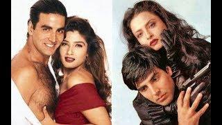 Download Video अभिनत्री रेखा अक्षय कुमार के प्यार में दीया अपना सब कुछ! Akshay Kumar, Rekha, Raveena  Love Story! MP3 3GP MP4