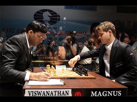 Amazing Game: World Chess Ch. 2013 – Game 9: Vishy Anand vs Magnus Carlsen : Nimzo-Indian Defense