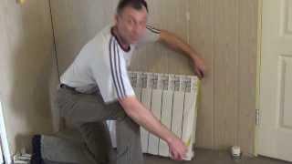 Установка радиатора отопления своими руками. Часть 1