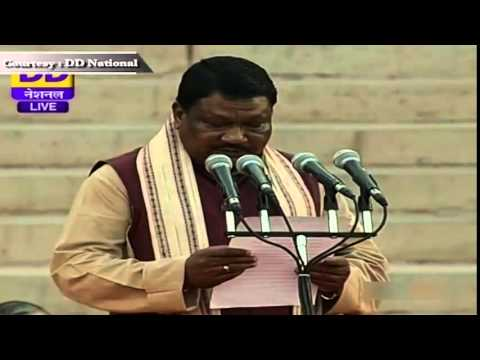 Shri Jual Oram sworn-in as Cabinet Minister in new Government