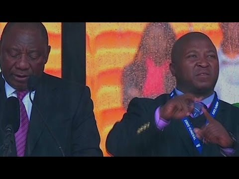 language - Some believe the sign language interpreter at Nelson Mandela's Tuesday memorial was a fake. Errol Barnett reports.