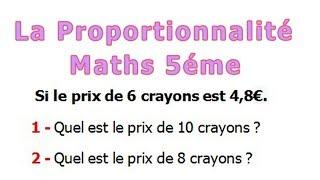 Maths 5ème - La proportionnalité Exercice 21