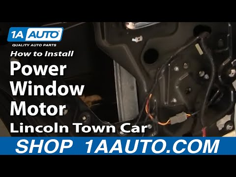 How to install repair replace rear power window motor lincoln town car 98 02 auto Car window motor replacement