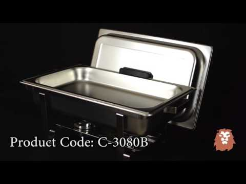 Stainless Steel Winco Chafer Demo by LionsDeal.com