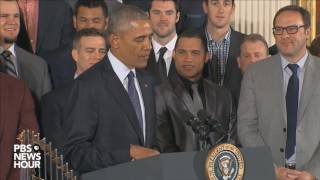 Watch full Chicago Cubs White House ceremony with President Obama