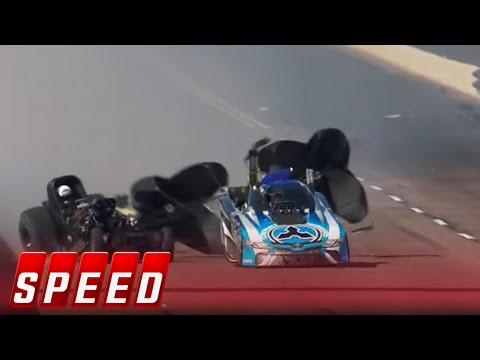 Courtney Force Wins Funny Car Final After Father's Terrible Wreck | 2018 NHRA DRAG RACING