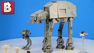 Lego Star Wars Custom Mini AT-AT | Build Time Lapse Review + Lego Ideas Concept