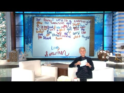 The Ellen Show - Writing a letter to Santa is a timeless childhood tradition… that doesn't always go as planned.