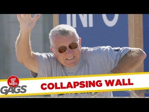 Troll Hài Hước 2015 - Collapsing Wall Prank