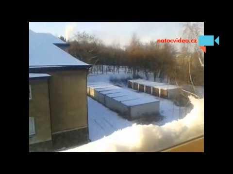 Druhé pokrytí sněhu v Ústí nad Labem