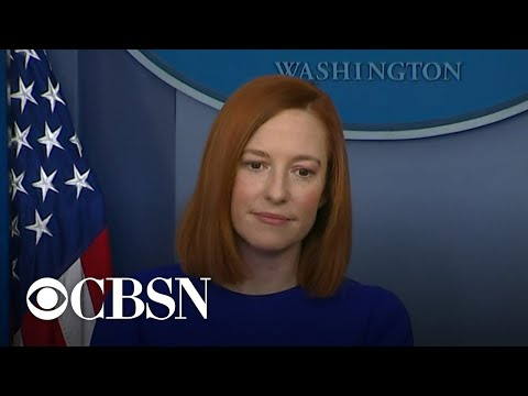 New White House press secretary Jen Psaki gives first press briefing