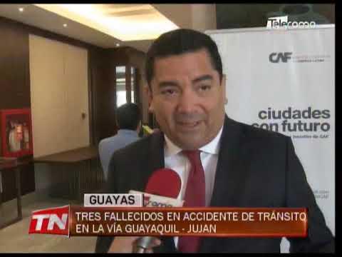 Tres fallecidos en accidente de tránsito en la vía Guayaquil - Juján