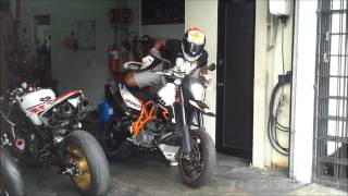 6. 2011 KTM 990 Supermoto R test ride