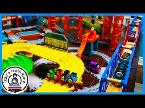 MEGA THOMAS TRACK WITH EVERYTHING! Wooden Railway, Trackmaster, Take N Play, and More!