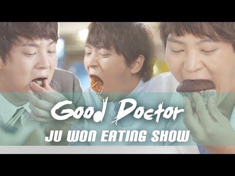 "[Mukbang] ""Good Doctor"" Ju Won Eating Show (Kimbap, Pasta, Ramen)"