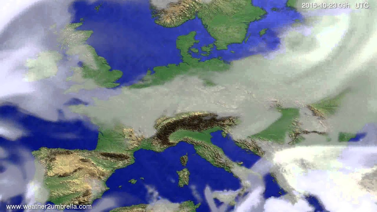 Cloud forecast Europe 2015-10-19