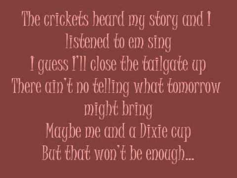 tailgate Blues – Luke Bryan with Lyrics