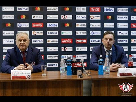 """Пресс-конференция: """"Автомобилист"""" - """"Динамо"""", Рига (3.02.2017)"""