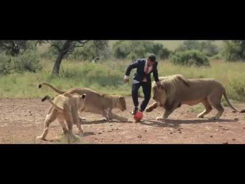 他是世界第一個與野生獅子踢足球的人