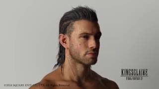 The hair of Nyx Ulric from Kingsglaive Final Fantasy XV