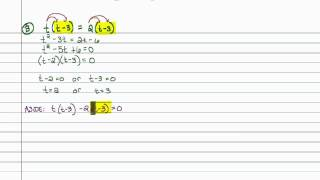 Intermediate Algebra - Solving Quadratic Equations by Factoring (Part A)