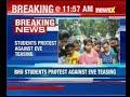 Varanasi: Students protest against eve teasing at BHU main gate - Video