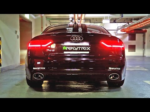 insane audi rs5 - armytrix cat-back valvetronic exhaust sound!