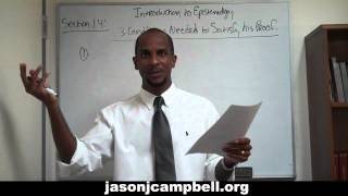 35. Epistemology Lecture Series: Section 1.4