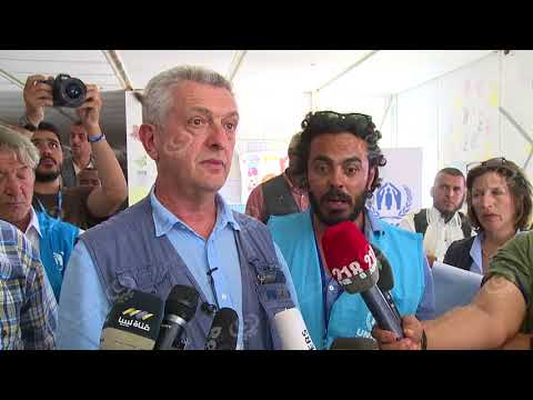 المفوضالسامي لشؤوناللاجئينيزور مخيمطريقالمطارللنازحينوالمهجرينبطرابلس
