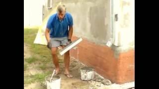 Утепление фасадов, армирование сеткой стен дома