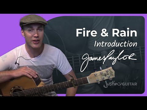 Fire And Rain – James Taylor #1of2 (Songs Guitar Lesson ST-624) How to play