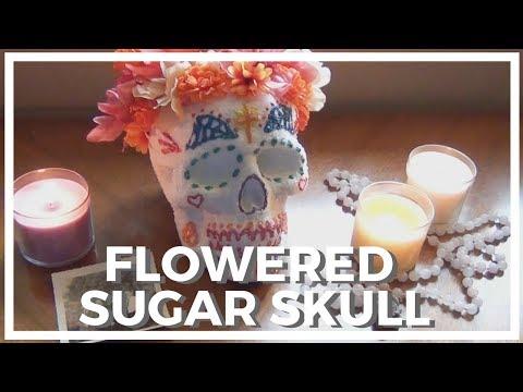 Flowered Sugar Skull Décor ♥ Dia De Los Muertos