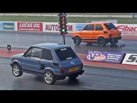Taz Racing Fiat 126's at Santa Pod Raceway
