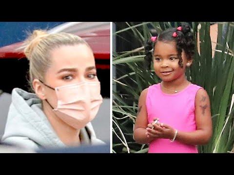 Khloe Kardashian's Daughter True Sports Temporary Tattoos At Tumbling Class