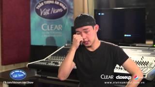 Vietnam Idol 2015 - Nguyễn Duy bật khóc kể về hoàn cảnh gia đình, than tuong am nhac viet nam 2015, than tuong am nhac 2015, viet nam idol 2015