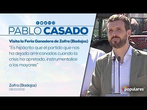 Pablo Casado visita la Feria Ganadera de Zafra (Badajoz)