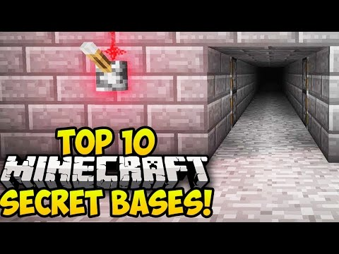 TOP 10 BEST MINECRAFT SECRET BASES! (Minecraft Secret Rooms) (Minecraft Hidden Bases) – 2014