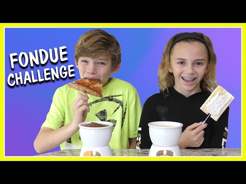 THE FONDUE CHALLENGE! | We Are The Davises (видео)