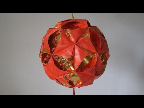 Kusudama Tutorial - 040 -- Ornamental Flower Ball