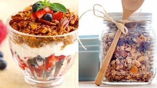 Vegan- Oil Free- Sugar Free-  Healthy Granola!!Please watch the full video for detailed instructions & ingredients.
