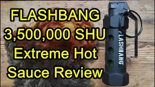 Flashbang 3.5m SHU extreme sauce explodes in our mouths!