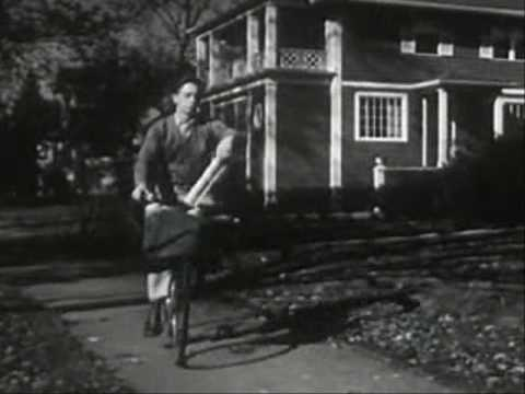 1950s - A 1952 documentary showing small town 50's America from morning to evening. Many kinds of people doing many kinds of work, and then bowling. 1952, B/W.