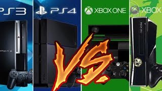 PLAYSTATION 3 VS XBOX 360 VS PLAYSTATION 4 VS XBOX ONE