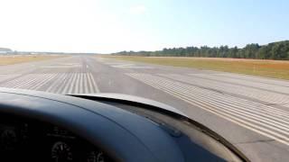 Cirrus SR22 Take-off From Nashua, NH